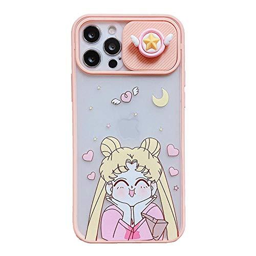 DNZJHHM 3D Protective Lens Sailor Moon Soft Phone Case for iPhone 12 Pro MAX 11 Pro MAX 12MiNi 7 8 Plus X XS MAX XR SE 2020 Cute Cover-A02_For iPhone 12pro MAX