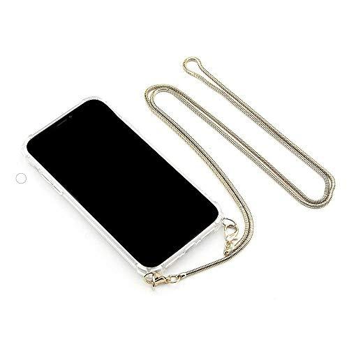 """MARIEHR FEEL.LIFE Handyhülle Necklace kompatibel mit iPhone 7/8 SE 2020 für 4,7"""" Display, Handykette zum Umhängen mit Metall-Kette in Farbe Gold"""