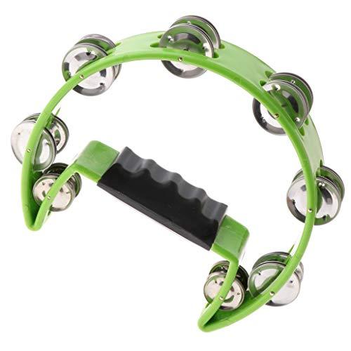 1 Stück Rassel-Tamburin-Handbell-Shaker Bell-Musikalisches Vorspiel - Grün