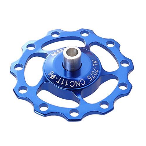 LIOOBO Rueda de Cambio Trasero Rueda de guía de la polea del desviador de la Rueda de Cambio de aleación de Aluminio CNC (Azul)