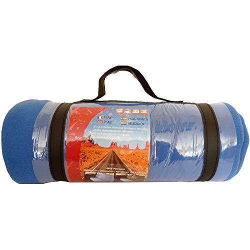 Plaid de Couverture Polaire Bleue 150x135 cm