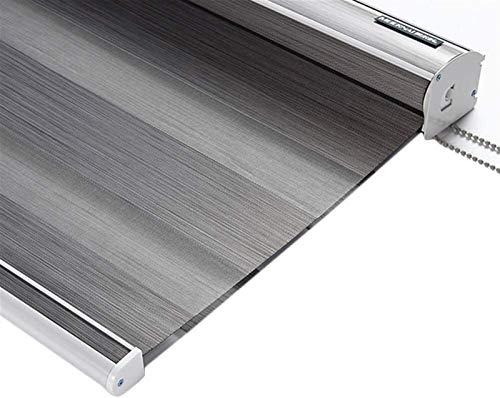Plissee Tag und Nacht Zebra Rollo blind Horizontale Fensterschirme Doppelgewebe Transluzent oder Blackout Vision Vorhänge Blackout Rollblind for Küche Badezimmer Schlafzimmer Sichtschutz und Sonnensch