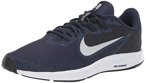 Nike Downshifter 9, Zapatillas de Correr Hombre, Azul (Midnight Navy/Pure Platinum/Dk Obsidian/Black/White 401), 40.5 EU
