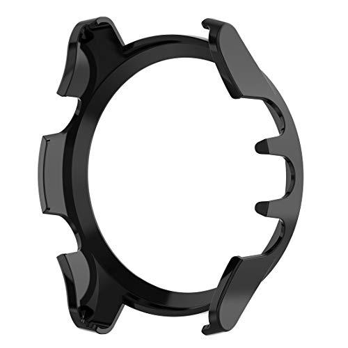 AWADUO für Garmin Forerunner 945 PC Transparent Schutzhülle Cover Shell Smartwatch Schutzhülle für Garmin Forerunner 945/935, weich & langlebig, schwarz
