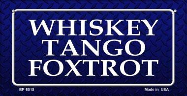 Koopje Wereld Whiskey Tango Foxtrot Nieuwigheid Fiets License Plaat (Met Sticky Notes)