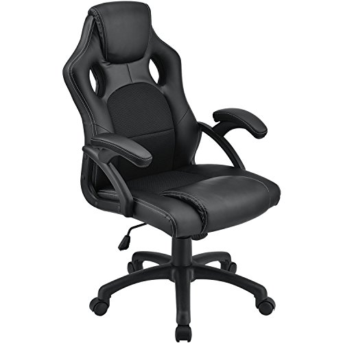 ArtLife Racing Schreibtischstuhl Montreal ergonomisch höhenverstellbar & gepolstert 120 kg belastbar Bürostuhl Drehstuhl PC Gaming Stuhl – schwarz