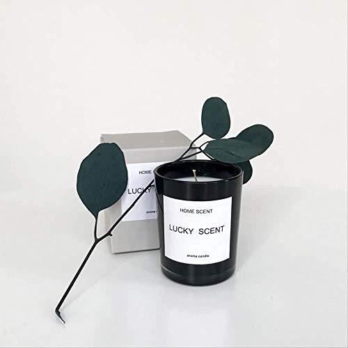 DQGZYF geurkaars van natuurlijke etherische olie, sojawas, milieuvriendelijk, decoratie voor binnen, rookvrij, 5,5 x 6,7 cm Coppa Nera Di Fiori D'arancio