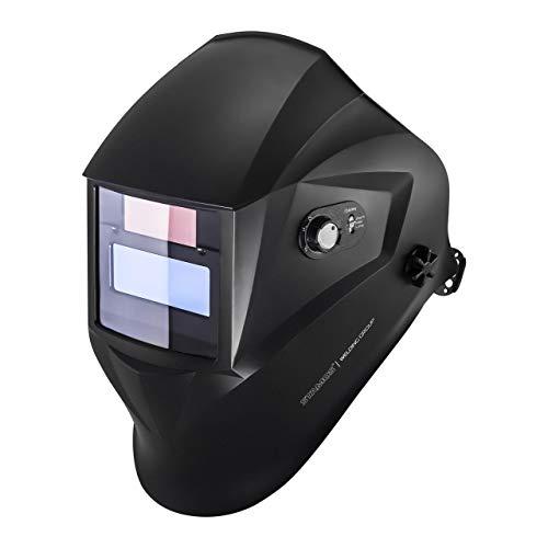 Stamos Masque de Soudure Casque de Soudage Operator EASY SERIES (protection contre la luminosité DIN 9-13, champ de vision de 95 x 36 mm, délai d'activation 1/25.000 s)