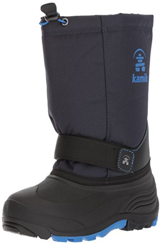 Kamik Boys' Rocket Snow Boot, Navy/Navy, 3 Medium US Little Kid