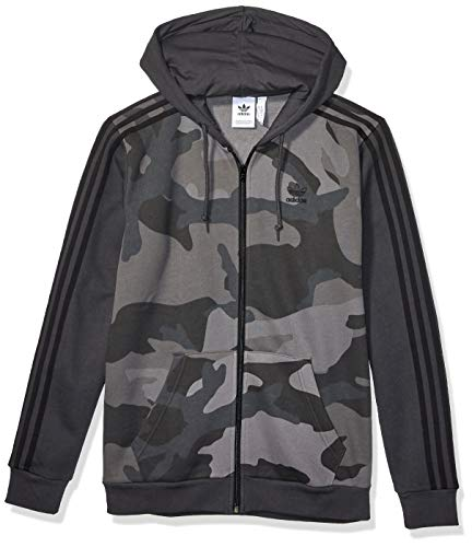 adidas Originals Men's Camo Full-Zip Hooded Sweatshirt, multi/carbon, Medium