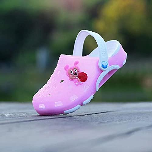 COQUI Zapatillas casa Mujer,Zapatos de la Cueva de los niños Hombres y niñas Padres-niño Playa Sandalias Sandalias Skates Verano niños Suave Fondo de bebé Zapatos de bebé-Rosa_15 cm