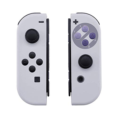 [Update Version] NS Joycon Handheld Controller Housing DIY Replacement Shell Case for Nintendo Switch Joy-Con (L/R) Without Electronics (Joycon-SNES)
