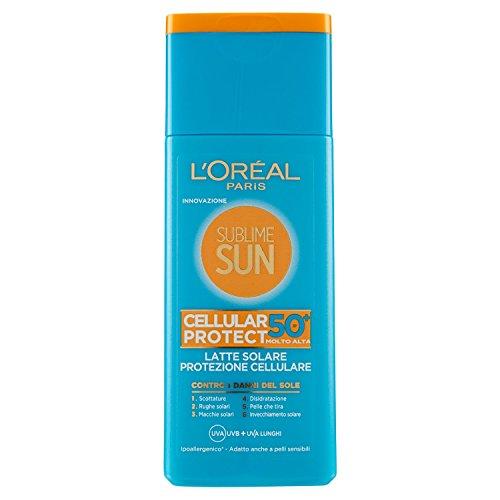L'Oréal Paris Sublime Sun Cellular Protect Protezione Solare, Latte Solare Protezione Cellulare IP 50+, 200 ml