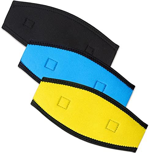 3 Stück Neopren Maskenband Schwimmmaske Gurt Tauchen Neopren Abdeckung Anti-Rutsch Maske Gurt Abdeckung für Tauchen Schnorchel Schwimmen Wassersport
