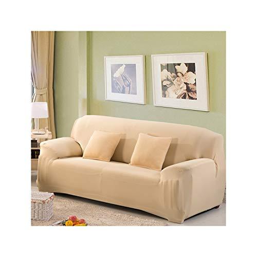 HGblossom Sofabezüge Für Wohnzimmer Solide Elastische Spandex Schonbezüge Couchbezug Stretch Sofatuch Farbe 9 Doppelsitz145-185Cm