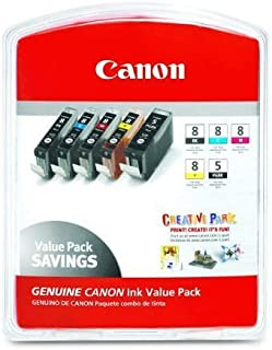 7-Pk CLI-5 BLACK CLI-8 Bk C M Y PC PM Ink Cartridges CANON w/chip