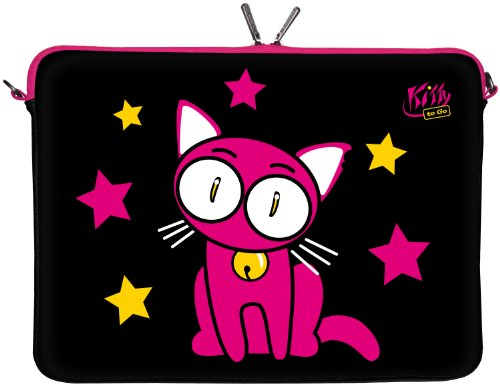 Kitty To Go Designer - Funda de Neopreno para portátiles LS142 17.3 Zoll