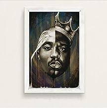 Notorious B.I.G Biggie Smalls Tupac Shakur Hip Hop Gangsta Rap Music Art Painting Silk Canvas Poster Wall Home Decor 30 * ...