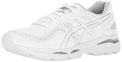 ASICS Men's Gel-Kayano 23 Running Shoe, White/Snow/Silver, 10.5 M US