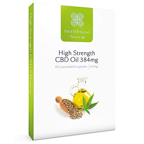 Healthspan High Strength CBD Oil Capsules, 384 mg, 60 Capsules