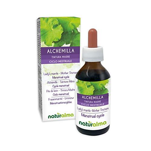 FRAUENMANTEL (Alchemilla vulgaris) Kraut Alkoholfreier Urtinktur NATURALMA | Flüssig-Extrakt Tropfen 100 ml | Nahrungsergänzungsmittel | Veganer
