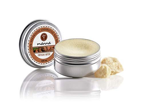Manna Sheabutter   Pflegt die Haut, gegen Pickel  100% naturreine Sheabutter aus Ghana   50 ml   Natürliche Hautpflege für jeden Hauttyp, Vegan, Grausamkeitsfrei, Geruchsfrei   Manna Natural Cosmetics