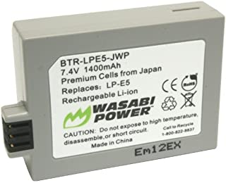 Wasabi Power Battery for Canon LP-E5 and Canon EOS 450D, 500D, 1000D, Kiss F, Kiss X2, Kiss X3, Rebel XS, Rebel XSi, Rebel T1i