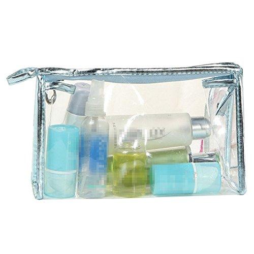 Kanggest 1Pcs Sac de Voyage en PVC Transparent Étanche Multifonction Sacs Cosmetiques/Trousse de Toilette/Trousses à Maquillage pour Voyage (gris)