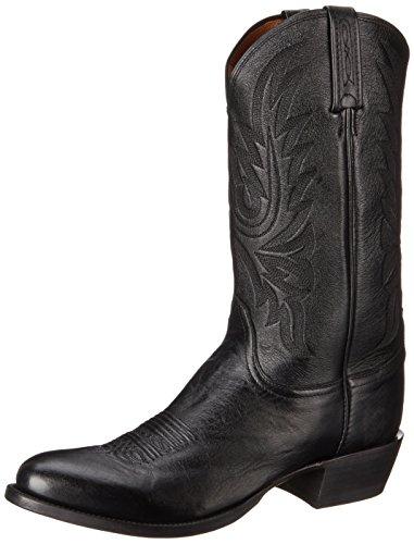 Lucchese Bootmaker Men's Carso-blk Lonestar Calf Cowboy Riding Boot,