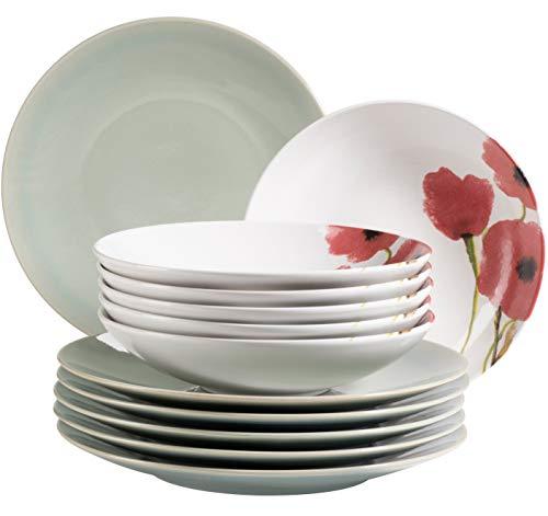 MÄSER 931928 Ossia Aguarela - Juego de platos para 6 personas (12 piezas), diseño vintage