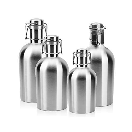 SHTSH Sht Barril de Cerveza, Jarra portátil de Acero Inoxidable 304, Botella de Agua portátil al Aire Libre de Gran Capacidad, Botella de Vino vacía for el hogar, Juego de Vino, 1L, 2L, 2.5L