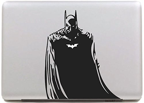 Vati hojas desprendibles Batman Geniales Diseño Mejor Sticker Decal la piel del vinilo de Arte Negro Perfecto para Apple Macbook Pro Aire Mac de 15 'pulgadas / Unibody 15 Inch Laptop