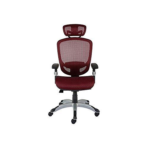 MyOfficeInnovations 2257054 Hyken Technical Mesh Task Chair Red