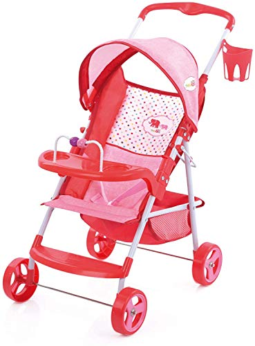 Little Mommy Doll Ultimate Travel System Stroller (D83589) with Retractable Canopy & Shopping Basket Below - Feeding Tray & Removable Car Seat, Fits Dolls up to 18 inches, Age 3+