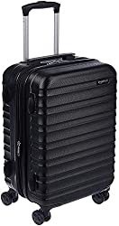 top 10 spinner luggage AmazonBasics Hardside Spinner, baggage, expandable suitcase with wheels, 21 inches, black