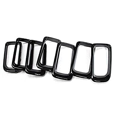 Front Grille Grill Insert Cover Frame Trims For Jeep Compass 2011 2012 2013 2014 2015 2016