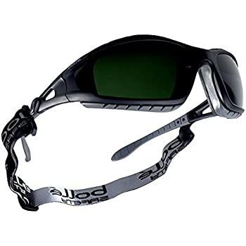 Bollé Safety 253-TR-40089 Tracker Safety Eyewear with Black/Gray Polycarbonate + TPE Full Frame and Welding Lens