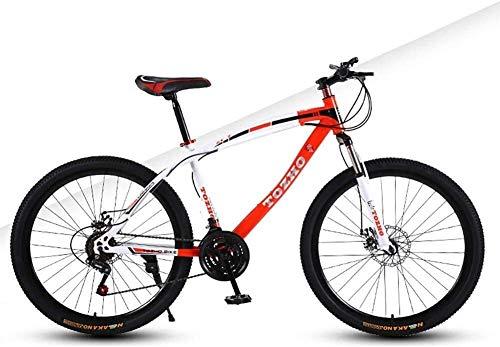 Enfants Mountain Bike Bicle étudiants Bicles 24 pouces à vitesse variable Bicle Freins à disque Vélo Adulte Hommes Femmes sur VTT Variable Absorption Vitesse Choc Jeune Cling étudiants (Couleur: Rouge