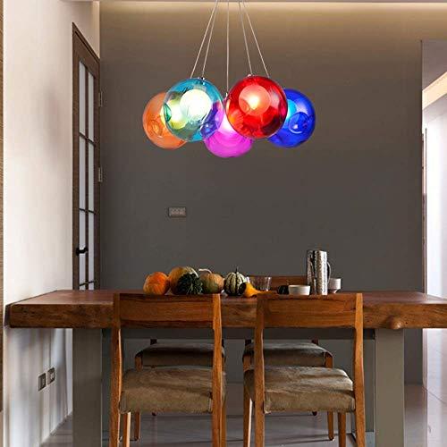 AMAFS Chandelier-5 Color de Dibujos Animados Burbuja Bola de Cristal Candelabro Lámpara Colgante Personalidad Creativa Habitación Infantil Niño Niña Dormitorio Jardín de Infantes Luz LED Happy House