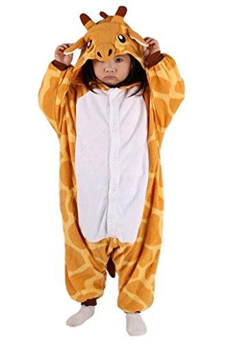 DATO Kinder Tier Schlafanzug Giraffe Cosplay Kostüm Sleepsuit Unisex Jumpsuit Pyjamas