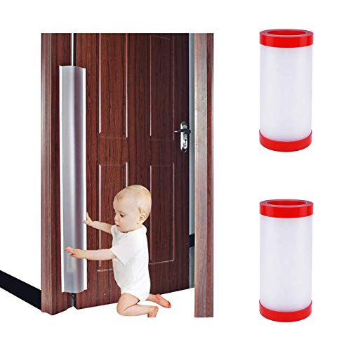 2 PCS Door Jam Shield Finger Pinch Guard for Baby Proofing, Kids, Hinge Cover Pinch Guard for 90 & 180 Degree Doors Frame & Baby Gate. 47.2'H, 6.7'W. 2 Pieces Set | Junesisters