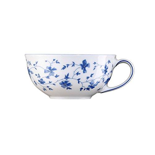 Arzberg Form 1382 Blaublüten Tee-Obertasse, Porzellan, White/Blue, 31.3 x 22 x 6.2 cm