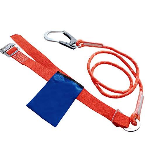 安全帯 一般高所作業用安全帯 一本吊り専用 胴ベルト型安全帯 ランヤード フック付き 工具袋付属 [落下防止 電気工事 高所での安全作業]