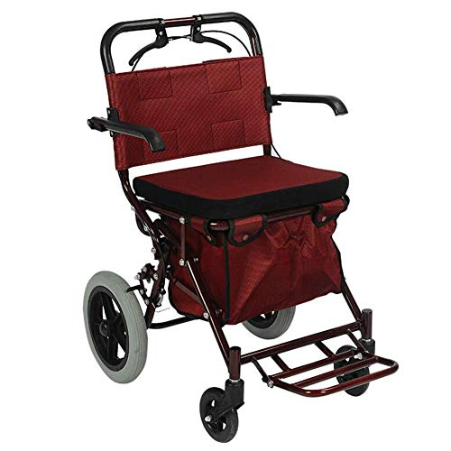 Walker plegable en altura ajustable con asiento acolchado para personas mayores Carrito de la compra con estructura para caminar