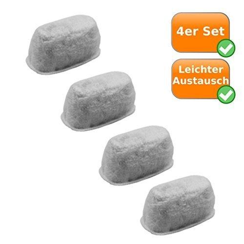 Ersatz Aktivkohlefilter für Kaffeemaschine Domo DO421 + Beem Fresh-Aroma-Perfect (Set = 4 Kohlefilter)