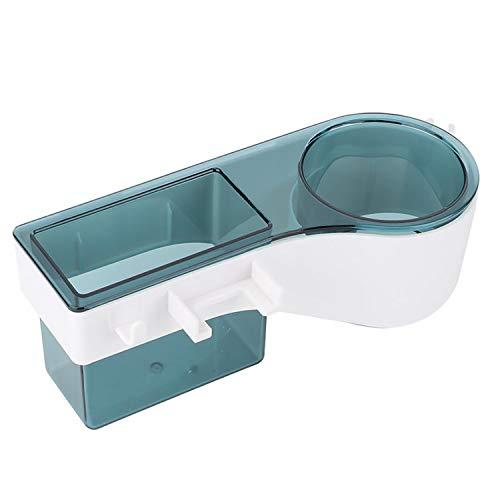 ZYLBL Estante de baño montado en la pared sin perforaciones, organizador de ducha de almacenamiento para secador de pelo, toalla, jabón, accesorios de baño (verde)