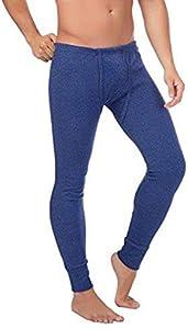 BestSale247 - Calzoncillos térmicos largos para hombre, ropa interior de esquí térmica, de algodón azul oscuro L