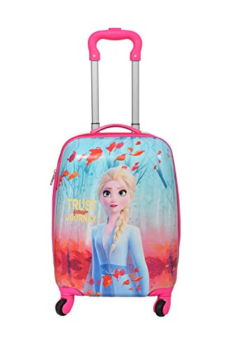 D's Paradise Kid's Polycarbonate Cartoon Print 16 Inches Frozen Sisters Elsa Anna (Barbie/Princess) Suitcase/Trolley Bag for Girl's and Boy's
