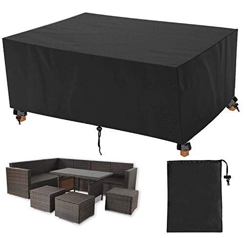 Muutos - Abdeckhauben für Möbelsets in Schwarz, Größe 205x104x71cm