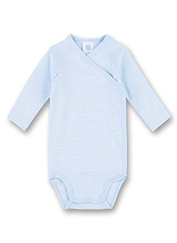 Sanetta Body portefeuille rayé à manches longues bébé, bleu ciel